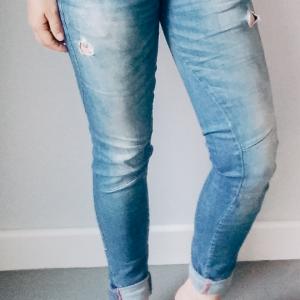 Skinny spijkerbroek licht blauw