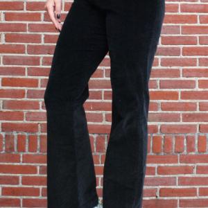 Flared broek corduroy zwart [S]